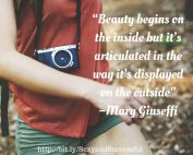 Beauty begins on the inside; Mary Giuseffi: http://www.livvivid.com